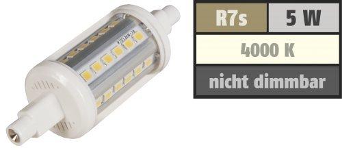Preisvergleich Produktbild LED-Strahler McShine ''LS-736'', R7s, 5W, 410 lm, 78mm, 360°, weiß