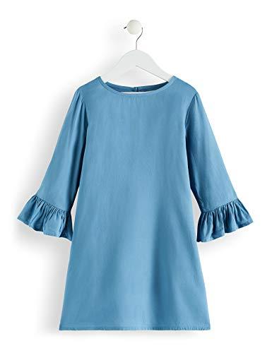 RED WAGON Mädchen Kleid mit Rüschen, Türkis (Blue Heaven), 104 (Herstellergröße: 4 Jahre)