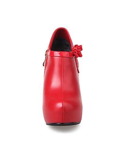 WSS 2016 Chaussures Femme-Mariage / Habillé / Soirée & Evénement-Noir / Rouge / Blanc-Talon Aiguille-Talons / A Plateau / Bottine / Bout Pointu / white-us8 / eu39 / uk6 / cn39