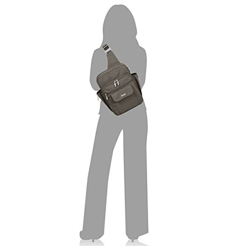 Baggallini  MES160, Sac pour femme à porter à l'épaule taille unique, pacifique (bleu) - MES160 - Sable