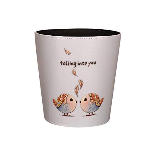DYFO 10L Papierkorb Wasserdicht Mülleimer Papierkorb Kinder Perfekt für Den Einsatz in Bad, Schlafzimmer, Büro, Wohnzimmer, usw-Zusammen fliegen1