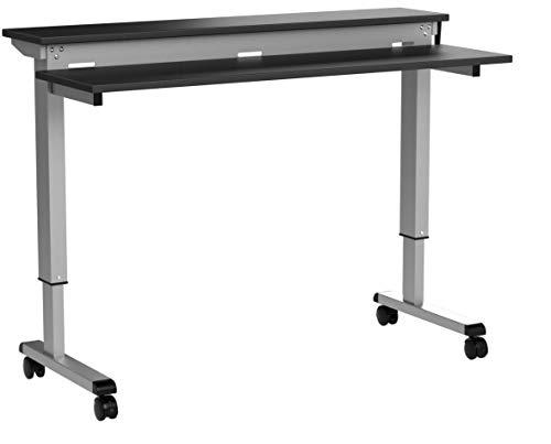 Stand Up Desk Store Höhenverstellbarer Schreibtisch - Zwei-Klassen- (Schwarz, Schreibtisch Länge:...