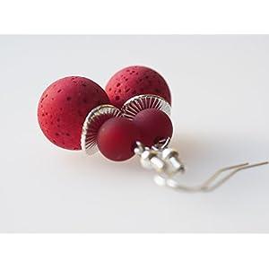 Ohrringe rot dunkelrot Polarisohrringe