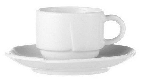 6x Espressountertasse 12 cm Speiseteller, Teller (12 Porzellan-pfanne)