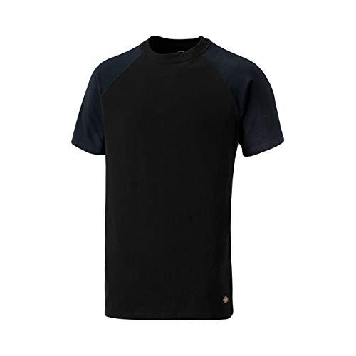 Slim Fit-kollektion (Dickies T-Shirt Two Tone SH2007, Größen, optimale Passform, Passend zur Everyday 24/7 Kollektion 2017 (M, Schwarz/Marineblau))