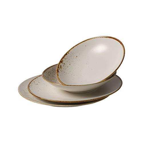 Villeroy & Boch Vivo Group Stone Ware White Juego de mesa, 4 piezas, Gres, Blanco