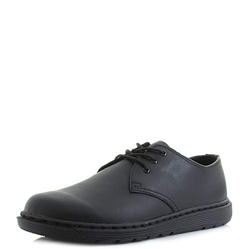 Dr. Martens Youth Cavendish BTS 3-Eyelet Black Leather Shoes 37 EU