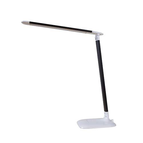 MXY LED Augenschutz Tischlampe Aluminium Falttyp, mit USB Ladeanschluss, Level 3 Touch Dimming, für Schlafzimmer, Wohnzimmer, Büro Augenleselampe,Black -