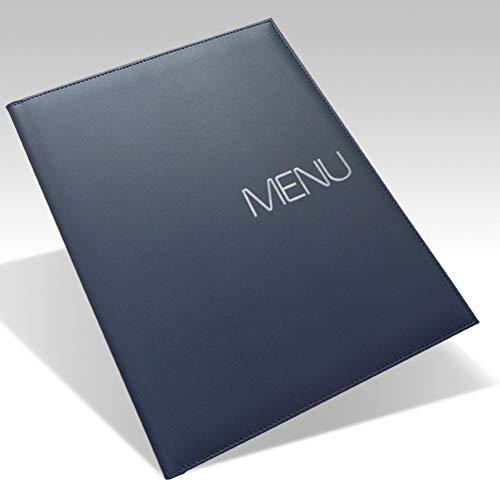 Protezione per menu ristorante A4alta qualità Porta menu da tavolo Similpelle Blu