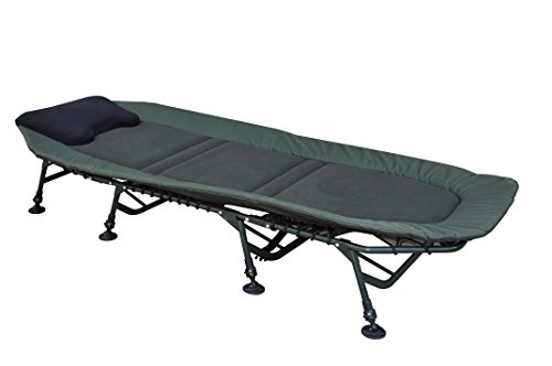 """MK-Angelsport """"FlatSize X-Pro"""" Bedchair Karpfenliege Gartenliege Liege 8 Bein"""