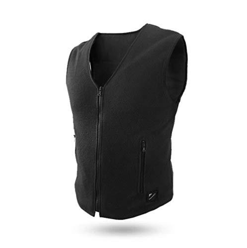 GAOQQ USB Smart Beheizte Weste, Winterwarme Kleidung, Smartphone-Steuerung - Für Outdoor-Reisen/Camping/Fahrrad/Skifahren (Schwarz),Men-M