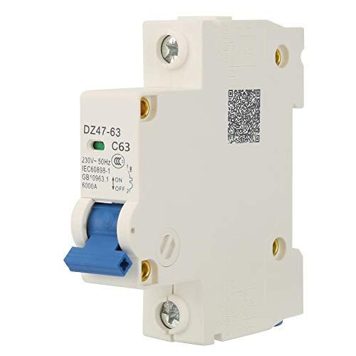 230V AC DZ47-63 Interruptor de corte de disyuntor en miniatura de 1...