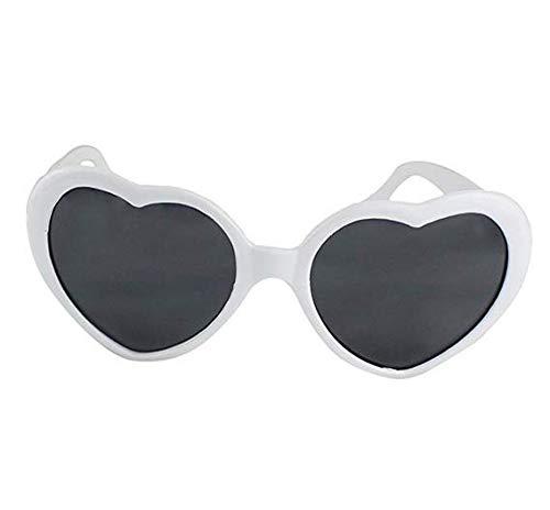 JER Sonnenbrille der große übergroße Frauen Herz geformte Sonnenbrille Nette Art und Weise Brillen Sport und Skibrillen |weiß Schmuck