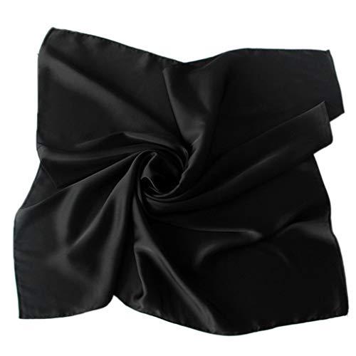 Minzhi Women Solid Satin Square Scarf Winter Pure Color Head Neck Shawl Ladies Gift Kerchief Satin Square Neck