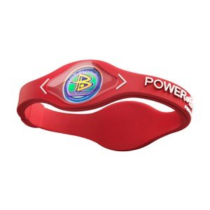 PowerBalance Silicone Wristband Power Balance Armband Red-White L