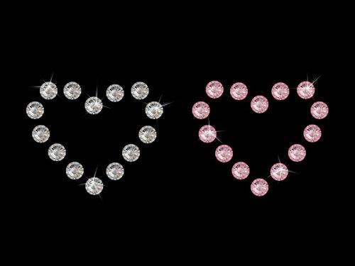 Swarovski Selbstklebende Strasstattoos Elements Herz (Crystal/Light Rosé), 2 Herzen