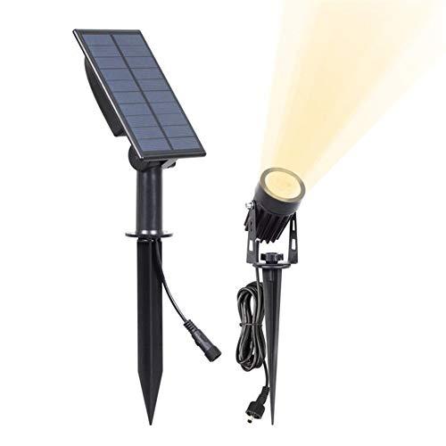 Mesigu Outdoor Solarstrahler Solar Outdoor Rasen Licht Super Helle LED Sicherheitslicht Wasserdicht Wandleuchte Garten Blick Hof Veranda Deck Garage Straßenbeleuchtung White Light 6000k -