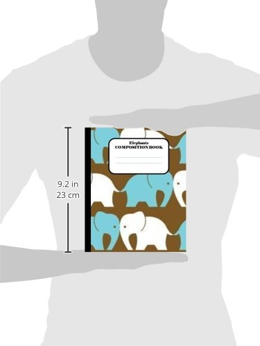 Elephants Composition Book: 100 pages, lined