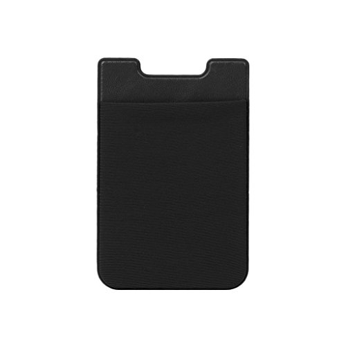Deendeng Adhésif Autocollant Téléphone Portable Back Card Wallet Credit ID Card Holder Pocket Noir