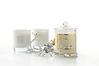 Scented Candles Soy Wax Jasmine Blossom Essential Oil, 55 Hrs, Gifts Candle by LA JOLIE MUSE