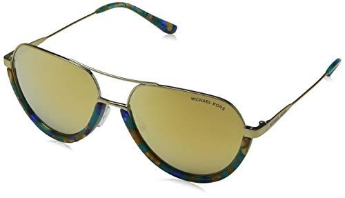 USTIN 10247P 58 Sonnenbrille, Teal Mosaic/Liquidgoldmirror, ()