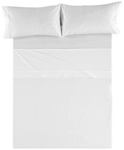 Es-Tela HST100 Juego de sábanas, Algodón, Blanco, Cama 150/170 King, 150 x 200 cm