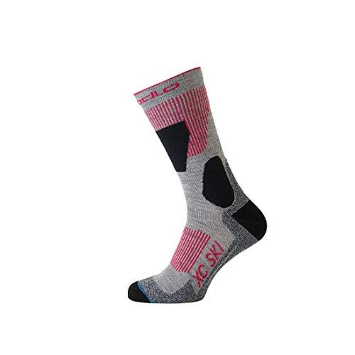 Odlo Xc Ski Socken, Grey Melange/Hibiscus, 39-41