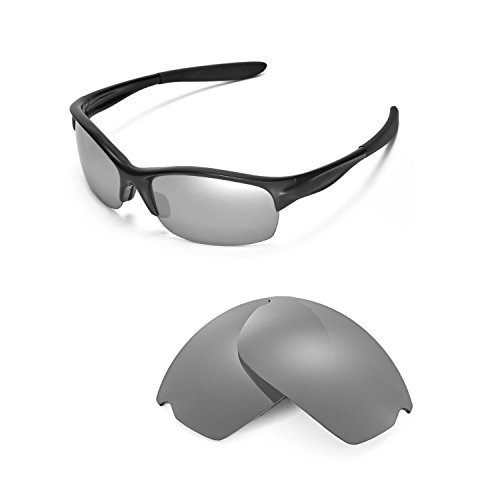 Walleva Ersatzgläser für Oakley Commit SQ Sonnenbrille - Mehrere Optionen (Titan Mirror Coated - Polarisiert)