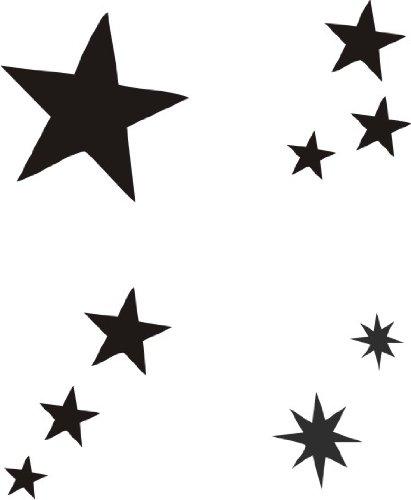 Eulenspiegel 108253 - Selbstklebe Schablonen Set Sterne
