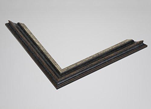 Vogel Design Holz-Bilderrahmen Monaco - Silber Schwarz 48x36 cm 36x48 cm mit Antireflex-Plexiglas Sondermaße ohne Aufpreis