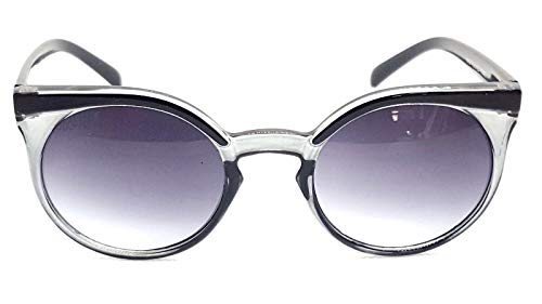 Lolablossom runde Cat Eye Sonnenbrille Pinup Retro Vintage Gypsy Stil (schwarz transparent)