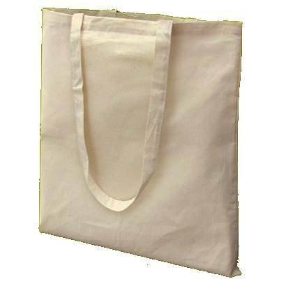 Sacs En Tissu - 10 x Long Handled Plain Cotton Bag