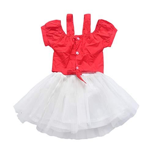 HUO FEI NIAO Mädchen Kostüm Tanz Kostüm Kleidung Garten Chor Ballett Kostüm Bauchtanz Kostüm (Color : Red, Size : 150)