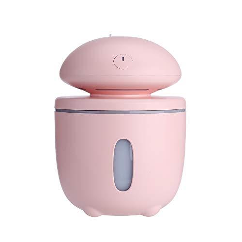 Pilz Ultraschallwelle Befeuchter 280ML Nachtlicht YWXR USB Kreativ Luftbefeuchter Auto Vernebler Büro Dekoration Tragbar Luftreinigungsapparat Haushalt ohne Wasser Automatische Abschaltung,Pink