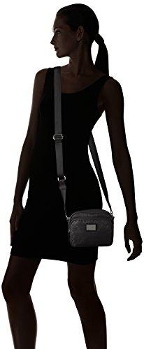 Bogner Damen Habana Umhängetasche, 7.5x14x18 cm Schwarz (Carbon)
