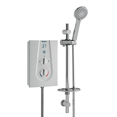Bristan GLE3105 W 10.5 kW Glee 3 Electric Shower - White Best Price and Cheapest