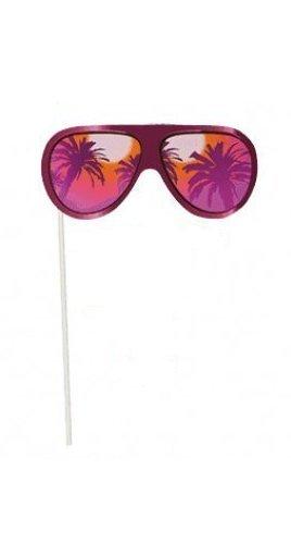 Party-Foto-Verkleidung auf Stick 3x Sonnenbrille pink Beach Party Summer Hawaii *NEU*OVP*