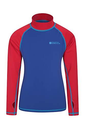 Mountain Warehouse Badeshirt für Kinder - Schwimmshirt mit UV-Schutz, Schnelltrocknendes Rash Guard Stretch, Langarmshirt für Kinder, Flache Nähte Rot 98 (2-3 Jahre)