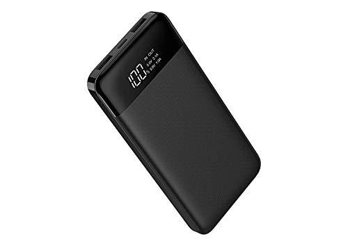 Charmast Powerbank 10400mAh Externer Akku USB C Power Bank LED Display Handy Ladegerät 2 Input 3 Ausgänge Micro USB Typ C für iPhone XS/X/8/7/6,iPad,Samsung,Nintendo Switch,Tablet,mehr Smarphone