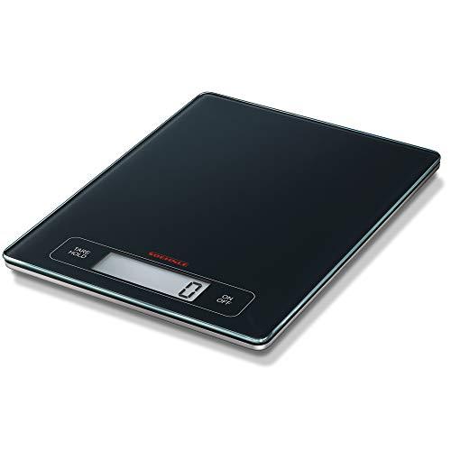 Soehnle 67080 page profi bilancia da cucina, spenigmento automatico, nero/argento
