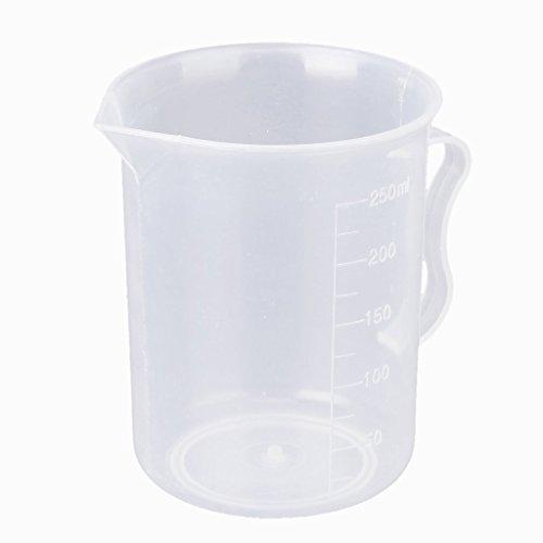 Sonline 250 ml transparenten Kunststoffmessbecher mit Griff -