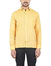 Bihar Khadi (A Bihar Govt. Enterprise Men's Shirt (Yellow, Medium)