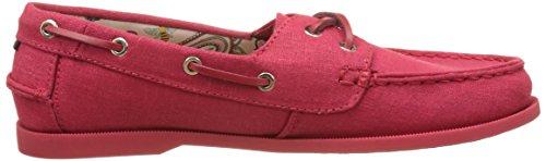Tommy Hilfiger M1285artha 8d, Chaussures Bateau Femme Rouge (Tango Red 611)