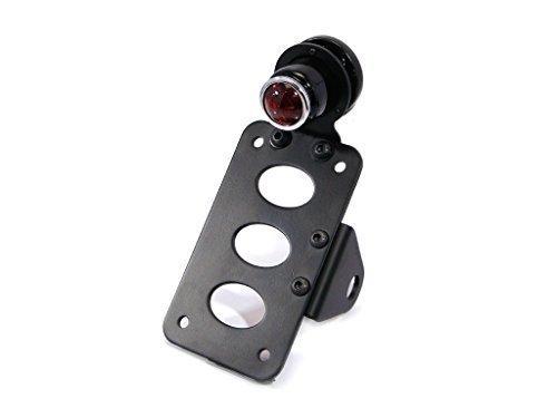 Retro Seiten Befestigung Motorrad Brems/Heck Licht mit Nummernschild/Kennzeichenhalter Halter