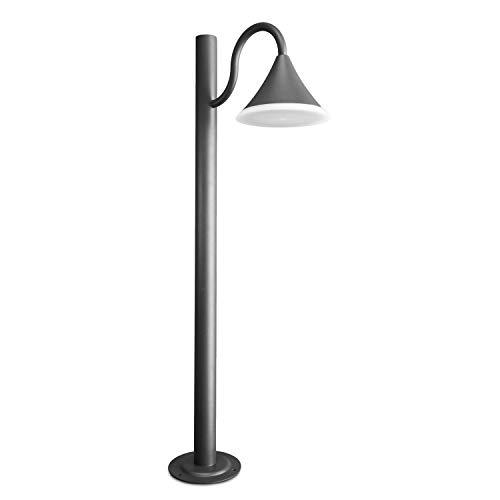 CLGarden LED Außenstandleuchte ASL6 anthrazit Gartenlaterne modern Laterne metall aussen groß