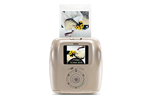 Fujifilm Instax Square SQ20, Fotocamera Istantanea e Digitale con Micro SD, Registra Video e Stampa in Formato Quadrato 62 x 62 mm, Beige