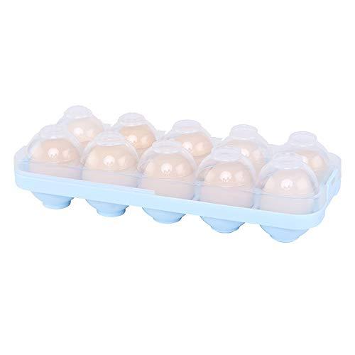 Kühlschrank Ei Halter Lagerbehälter Mit Deckel Eierablage Praktische Eierablage Fall Für Kühlschrank Stapelbar Eierbehälter Ei-Werkzeug (Color : Blau) (Lagerbehälter Organisation)