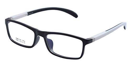 De Ding Damen Brillengestell Schwarz/Weiß