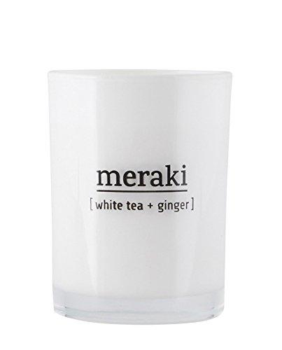 Meraki - Duftkerze - White Tea & Ginger - Weißer Tee & Ingwer - Ø8 x H10,5 cm -