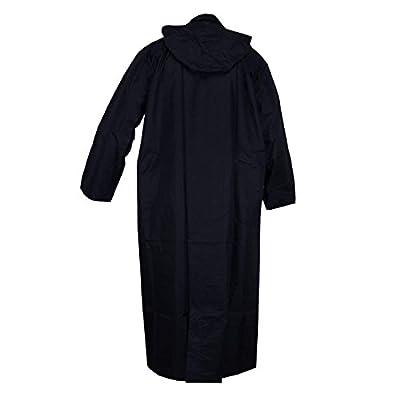 VARSHINE colorsx Rapid Long Raincoat II 100% Waterproof. II with Closure Pockets II with Carry Bag II R-50 Black